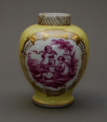 A reproduction Augustus Rex vase