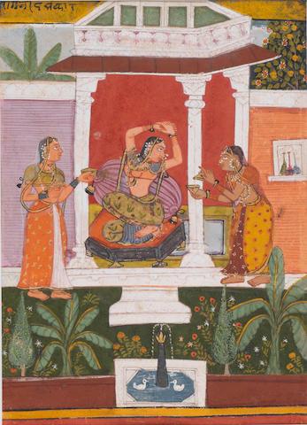 A Ragamala scene Bikaner