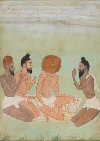 Four seated sadhus Bikaner