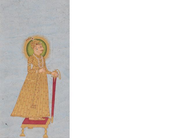 A prince with a sword facing right Kishangarh