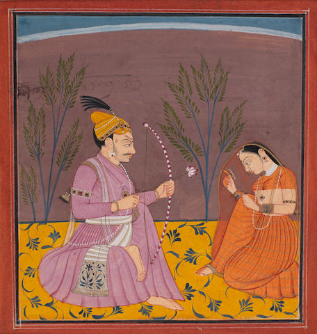 A prince with his mistress Bilaspur
