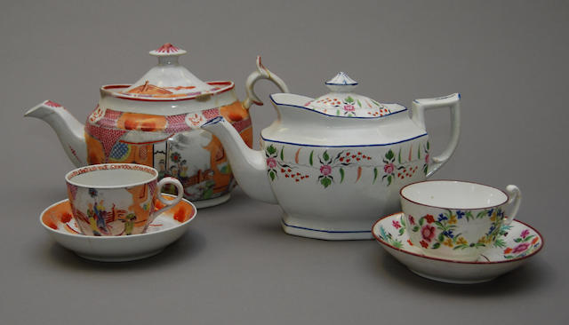 A small collection of New Hall ceramics