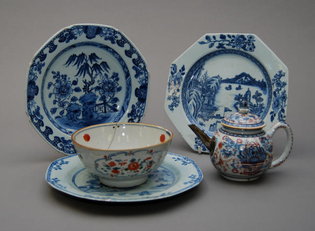 A collection of Chinese blue and white plates