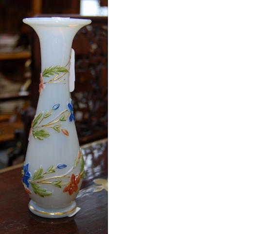A French opalescent glass vase