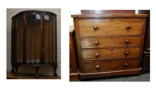 A mahogany chest of drawers, 19th Century
