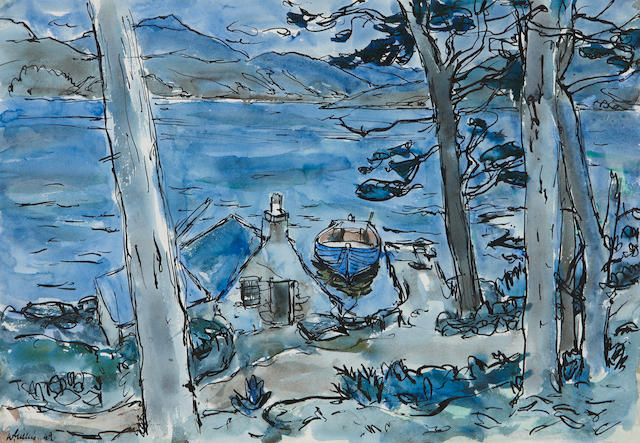 Sir William George Gillies, CBE LLD RSA PPRSW RA (British, 1898-1973) 'Boathouse Glaick'