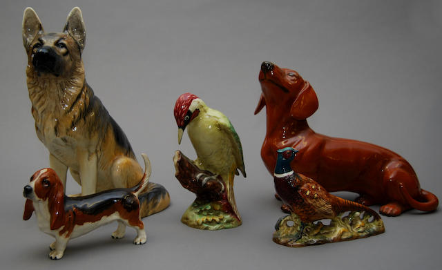 A small collection of Beswick animal figures