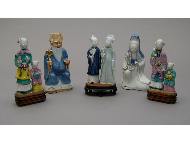A group of Chinese pottery figures