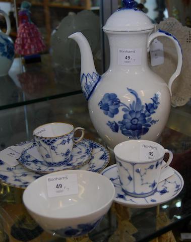 A small collection of Royal Copenhagen wares