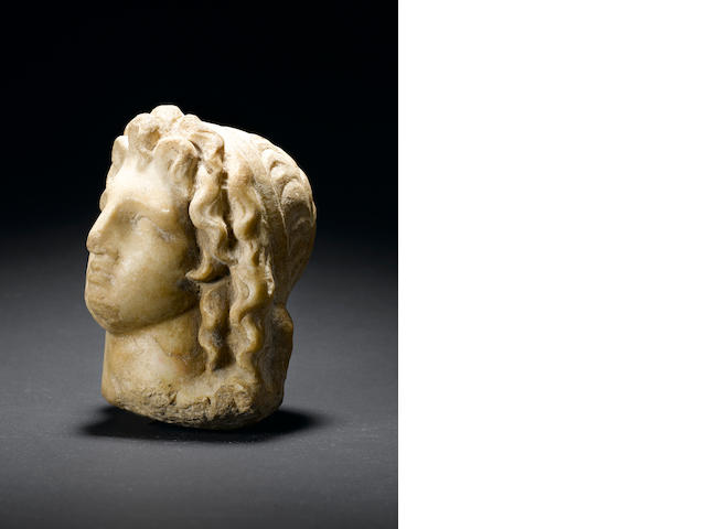 A late Hellenistic marble head of Alexander The Great