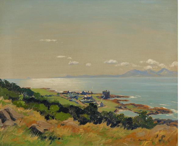 Robert Houston, RSW (British, 1891-1942) Portencross (looking to Arran)