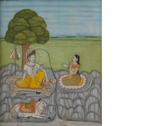 Siva, Parvati and Nandi Bengal ? 18th Century