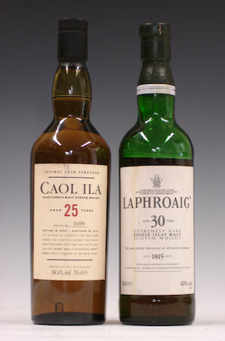 Caol Ila-25 year old-1979  Laphroaig-30 year old