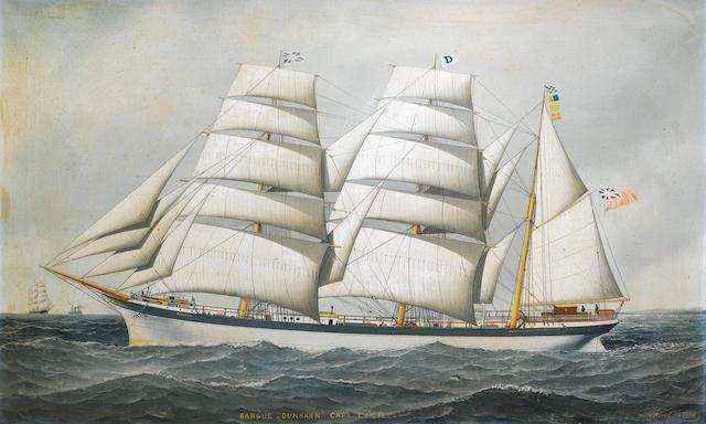 Antonio Nicolo Gasparo  Jacobsen (American, 1850-1921) The Barque Dunearn