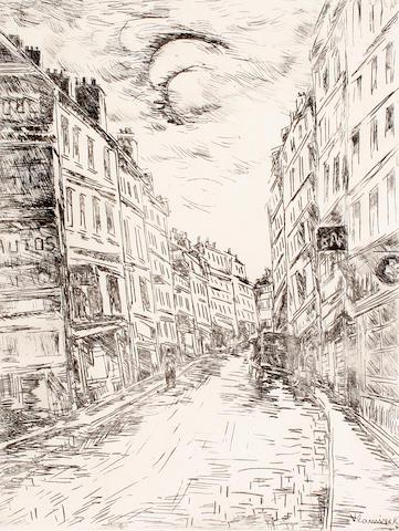 Vlaminck, Rue Glacier, Paris, etching.RMK advised venor NSV, unsigned. RETURNED K'BRIDGE FOR COLLECTION.
