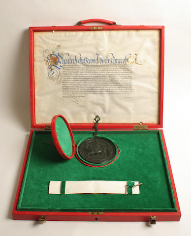 An Elizabeth II Seal and Warrant,