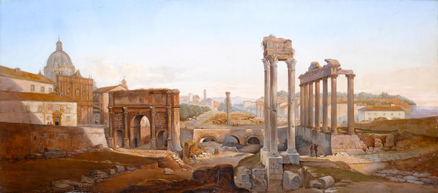 Follower of Vincenzo Giovannini (Italian, 1817-1903) The Roman Forum