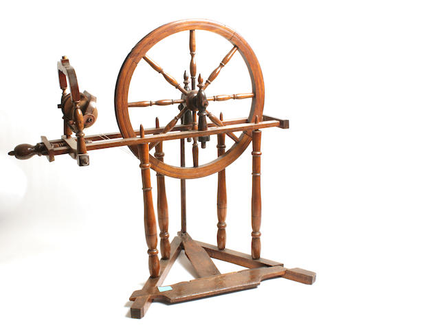 A 19th century spinning wheel