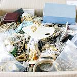 A large mixed lot of costume jewellery.