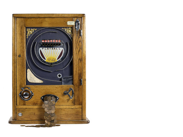 A 'Playball' wall machine, by Oliver Whales, late 1940s, early 1950s,