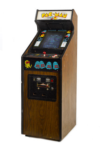 A Pac-Man upright coin-operated arcade machine, first production, 1980, by Midway Co.,