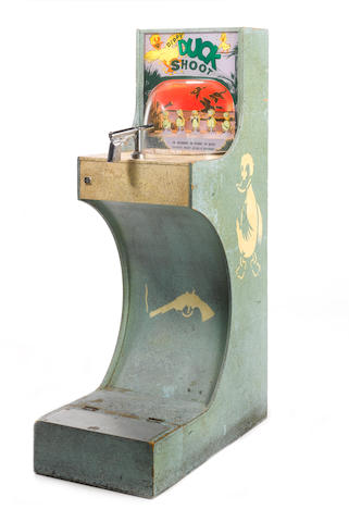 A 'Dippy Duck Shoot' upright coin-operated arcade machine, early 1960s,
