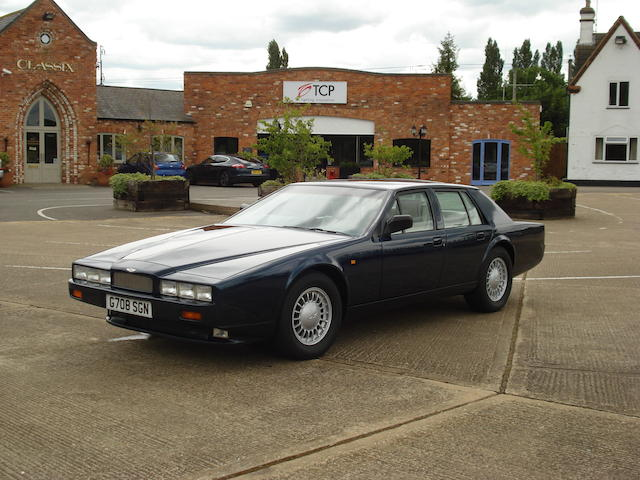 The antepenultimate produced,1990 Aston Martin Lagonda Series 4 Saloon  Chassis no. SCFDZ0157LTR13643 Engine no. V/585/3643
