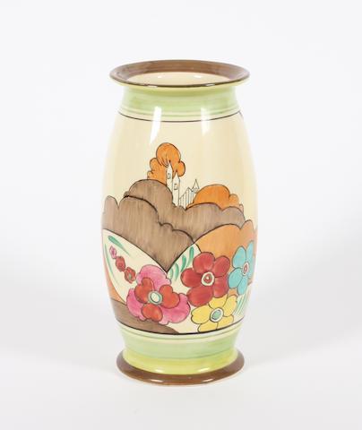 A Clarice Cliff Bizarre 'Alton' vase
