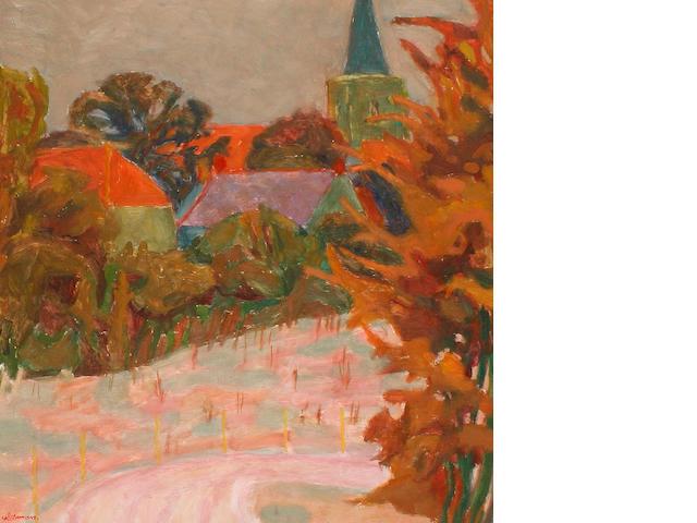 Hans Schwarz (British, 1922-2003) Stogursey, Somerset.