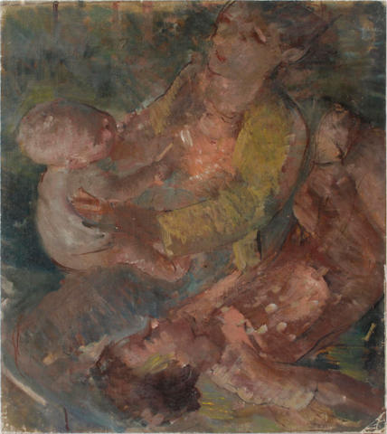 Bernard Fleetwood Walker (British, 1863-1969) Mother and Child