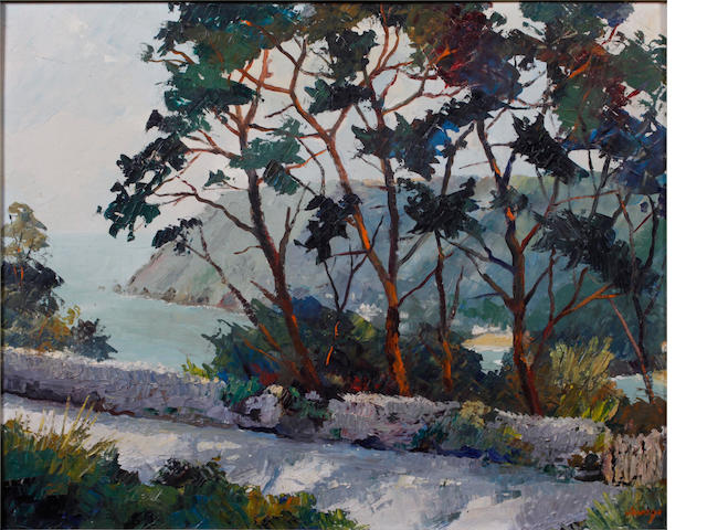 Francis Savage (British, 1908-1985) 'Bolt Head from Cliff Road, Salcombe'