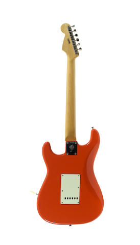 An  Electric Solidbody Stratocaster Guitar by Fender 1966 (2)