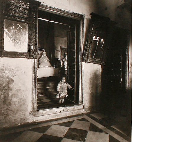 Indian School 'Child in an Indian Palace'