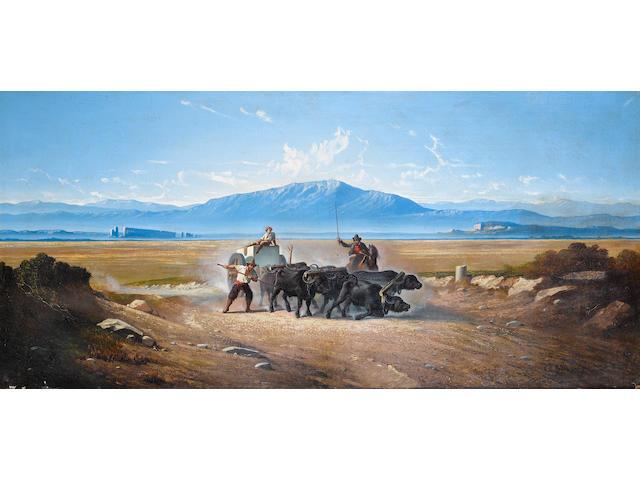 Carl Max Gerlach Quaedvlieg (Dutch, 1823-1874) Il trasporto del travertino