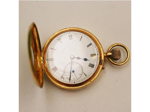 Charles Frodsham, London: An 18ct gold half hunter pocket watch