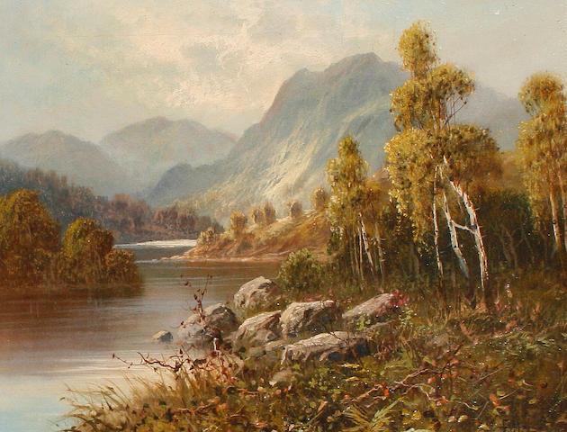 Frank Hider (British, b. circa 1861-1933)  A highland river landscape. A highland river landscape. 35.5 x 45.5cm (14 x 17 15/16in).