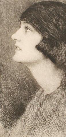 Mortimer Luddington Menpes, RI, RBA, RE (British, 1855-1938) Mrs Monkton Hill