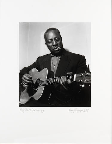 Terry Cryer (British, born 1934) 'Big Bill Broonzy, Backstage at the Free Trade Hall, Manchester', 1957