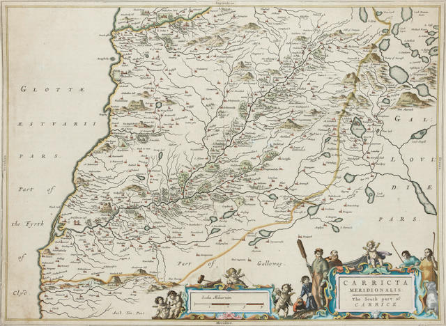 MAPS - CARRICK and ORKNEY [BLAEU (JAN)] Carricta Meridionalis. The South Part of Carrick