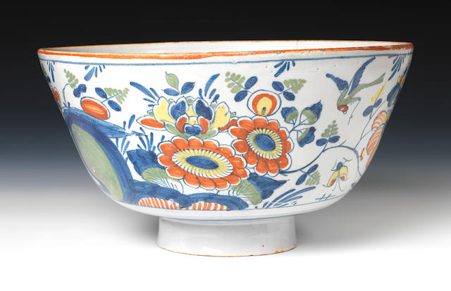 A Delftware polychrome bowl