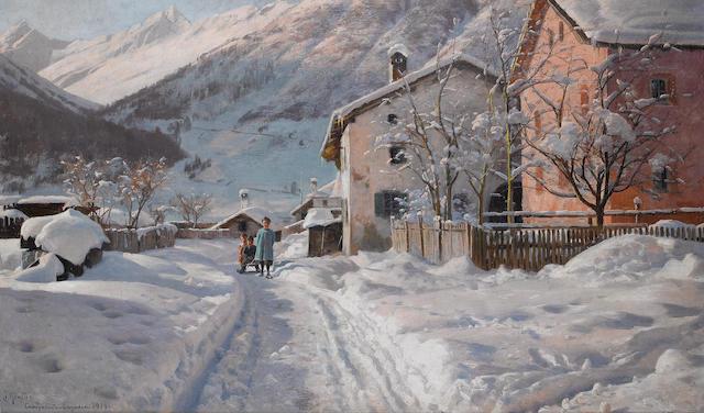 Peder Mork Mönsted (Danish, 1859-1941) Camporesto Engadin