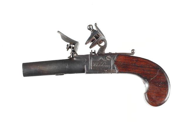 A Flintlock Boxlock Pocket Pistol