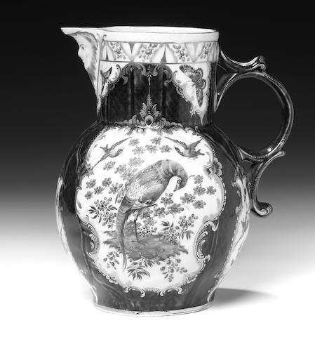 A good Worcester mask jug, circa 1770
