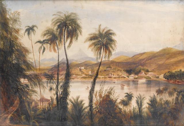 Andrew Nicholl, RHA (British, 1804-1886) A river in Ceylon