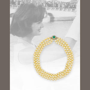 Jacqueline Kennedy's triple-strand simulated pearl necklace,