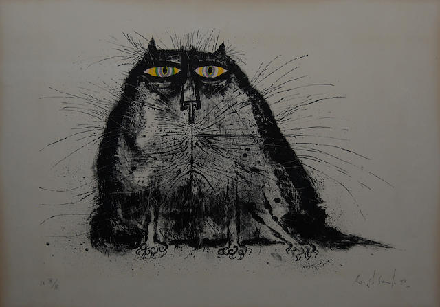 Ronald Searle (British, born 1920) Cat,