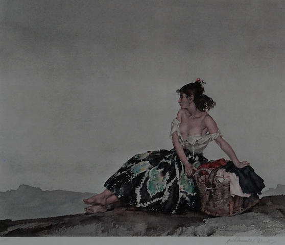 Sir William Russell Flint R.A., P.R.W.S. (British, 1880-1969) 'Carmelita', 28cm 32cm.