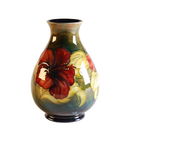 A Moorcroft 'Hibiscus' vase