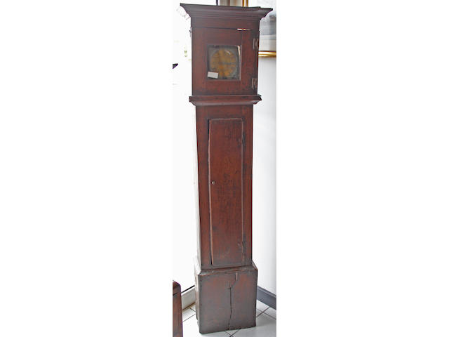 A 18th Century provincial oak 30 hour longcase clock,