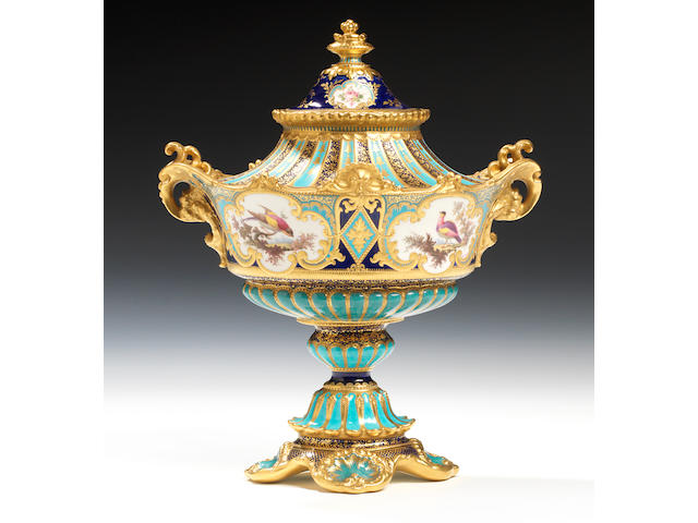 A fine Royal Crown Derby vase and cover by Désiré Leroy, dated 1897